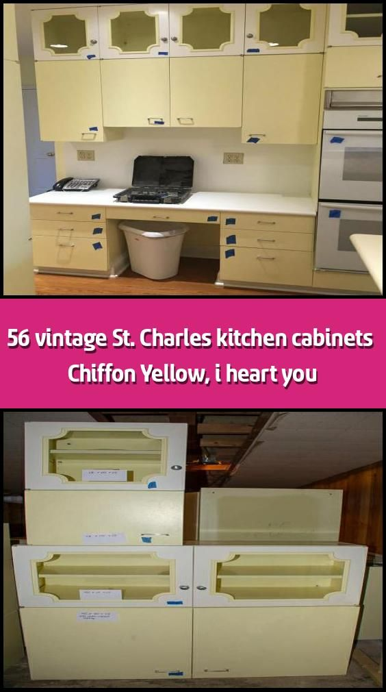 56 Vintage St Charles Kitchen Cabinets Chiffon Yellow I Heart You 56 Count Em 56 Vintage St Charles Kitchen Cabinets Spotted For Sale Where All The B