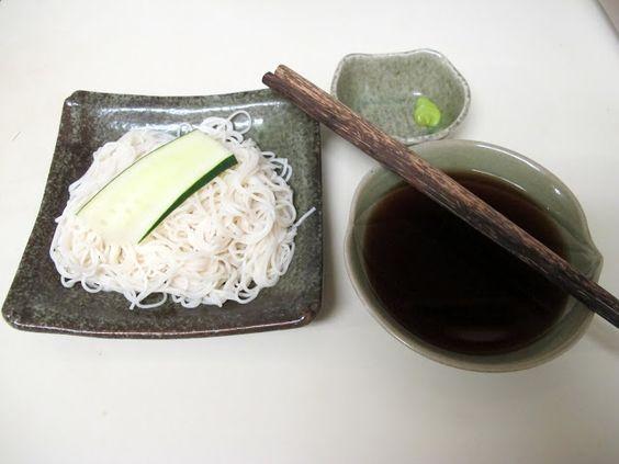 Hiyashi Somen (Chilled Somen Noodles) -- hmmm. need to make dashi ...