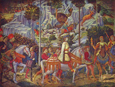 Benozzo Gozzoli: Zug der Hl. drei Könige