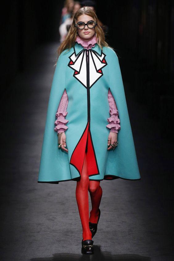 YOOOO THE CAPE YOu0026gt;u0026gt; Gucci   Ready-to-Wear - Autumn 2016   Look 12   Fashion/Style   Pinterest ...