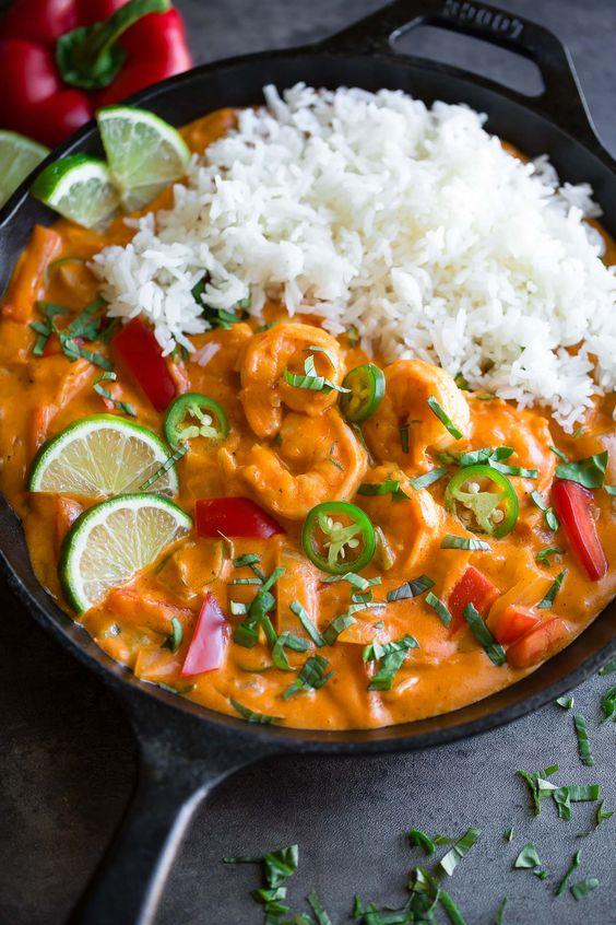 Easy Thai Coconut Shrimp Curry