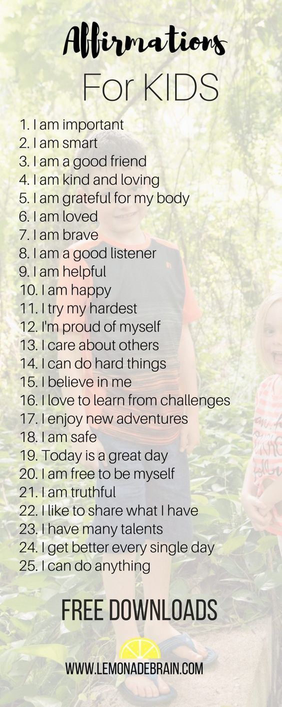 Affirmations for Kids - Lemonade Brain