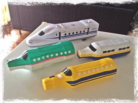 手作り新幹線 新幹線 おもちゃ 手作りおもちゃ ペットボトル ペットボトル おもちゃ