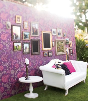 So cute photo booth idea!!! love that there's a couch too