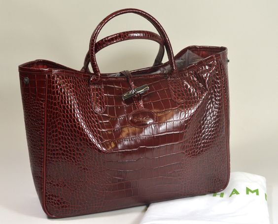 Sac Longchamp Croco