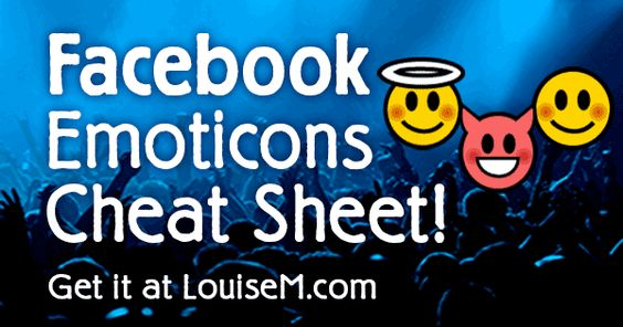 Have some fun with this Facebook emoticons list for comments, with keyboard shortcuts, in an infographic to pin and print. Plus text to copy & paste!.