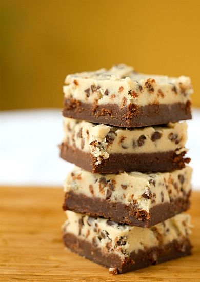 Chocolate Chip Cookie Dough Brownies by Brown Eyed Baker