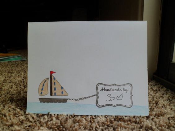 Navy Boats by 3xCreativeBs on Etsy