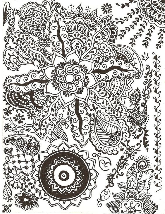 N Mehndi Patterns On Paper : Paper paintings henna designs in ink by flygirlpml on