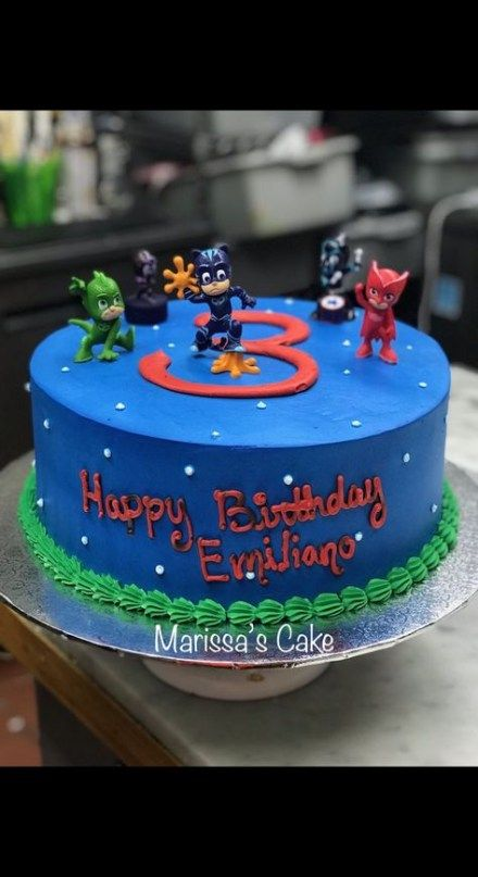 43 Ideas Birthday Cake Kids Boys Pj Mask For 2019 Cake Birthday