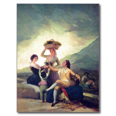Goya y Lucientes, Francisco de Weinlese The Vintag Postkarten