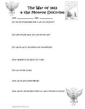 Worksheets Monroe Doctrine Worksheet monroe doctrine worksheet 1000 images about on pinterest primary sources