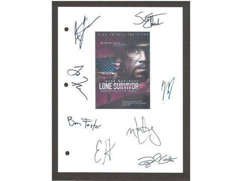 Lone Survivor Signed Script Reprint Screenplay Autographed: Mark Wahlberg, Emile Hirsch, Ben Forster, Taylor Kitsch, Alexander Ludwig
