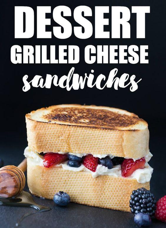 Dessert Grilled Cheese: Crisp Berry & Mascarpone Sandwich ...