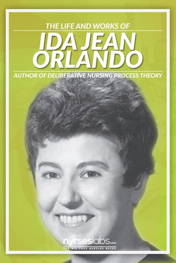 ida jean orlando nursing theory Ida jean orlando (pelletier), a theorist renowned in the field of nursing theory, was born in new jersey in 1926 to italian immigrant parents after being reared during the great depression, orlando's mother disagreed with her decision to pursue an education in nursing and expressed her preference .
