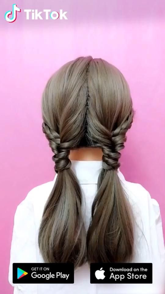 Super Easy To Try A New Hairstyle Download Tiktok Today To Find More Amazing Videos Also You Can Post Videos To Sho In 2020 Hairstyle Hair Videos Long Hair Styles