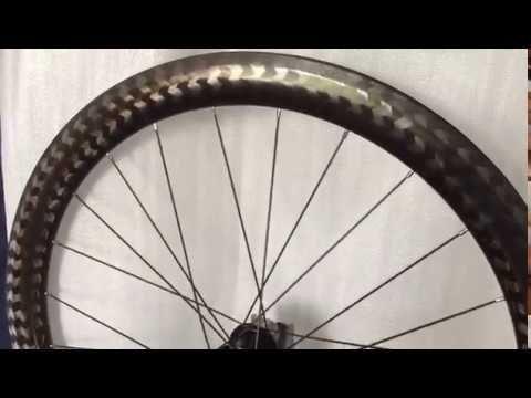Xyz Latest 12k Twill Golden Carbon Series Road Bike Wheels Ready