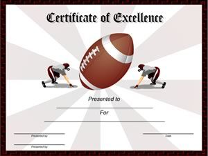 Free Printable Football Award Certificate Template With Images