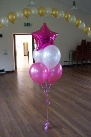 Balloon bouquet balloons pinterest colors arches for Balloon arrangement ideas