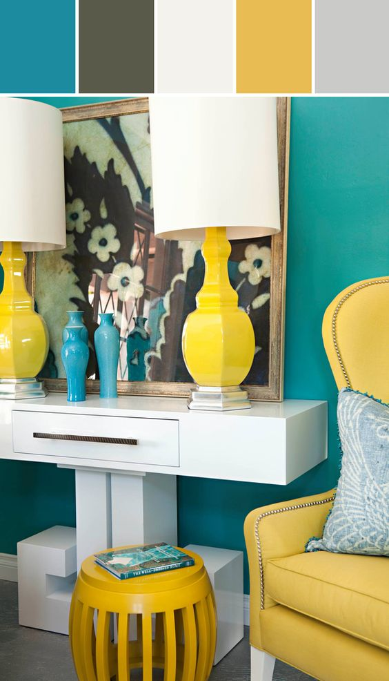 explore yellow lamps turquoise yellow and more colors teal consoles