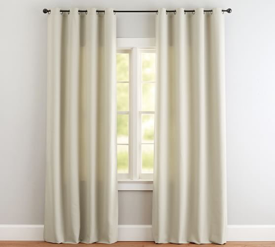 Outdoor Grommet Curtain Natural In 2020 Outdoor Drapes