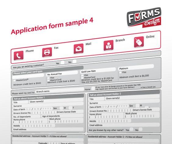 form design sample 3   wwwformsdesignau/ Forms Design - sample credit application