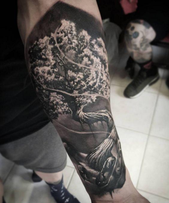 Tattoo Mammut Lebensbaum