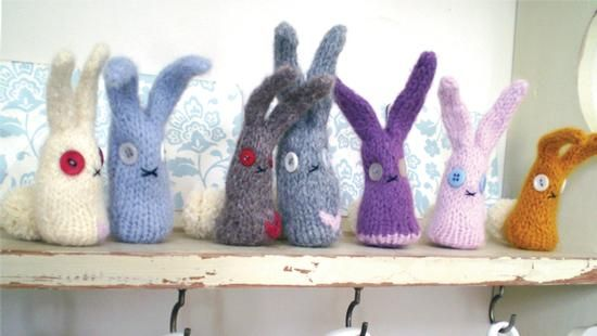 Felted rabbit pattern from Dot Pebbles