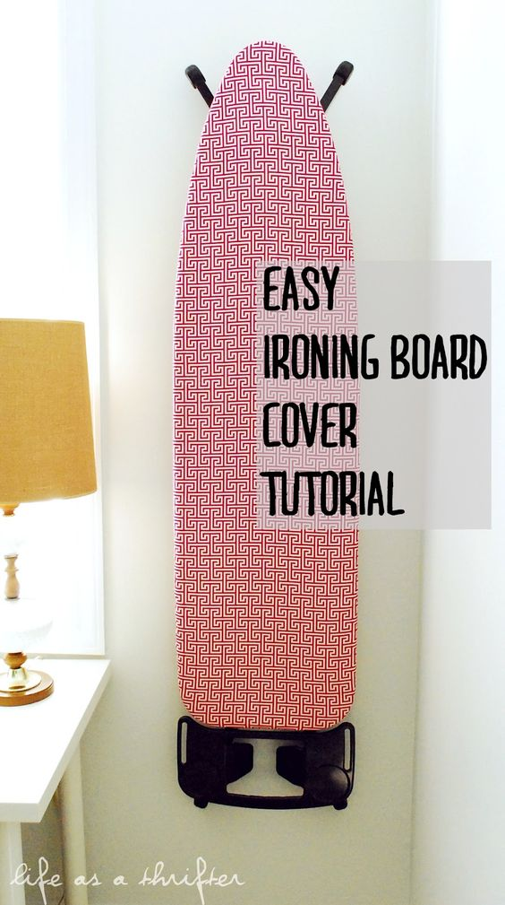 Easy #Ironing Board Cover Tutorial: Life as a Thrifter -- This should take you to  her blog, click on tutorials