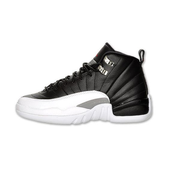 Boys\u0026#39; Grade School Air Jordan Retro 12 Basketball Shoes ? liked on Polyvore featuring shoes