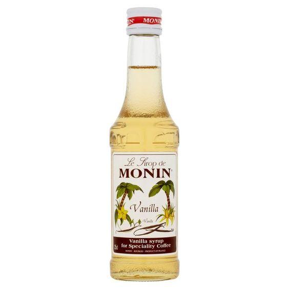 Monin Vanilla Syrup http://groceries.morrisons.com