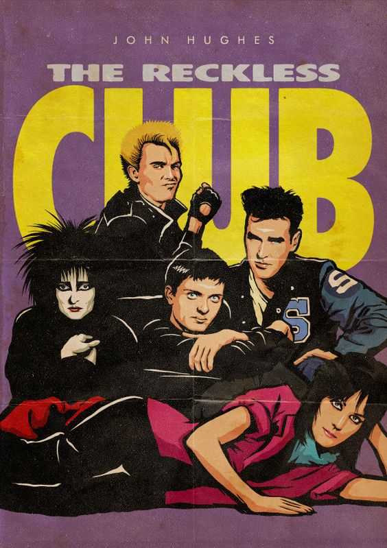 """""""The Reckless Club"""" / Billy Idol, Ian Curtis, Joan Jett, Morrisey & Siouxsie Sioux"""