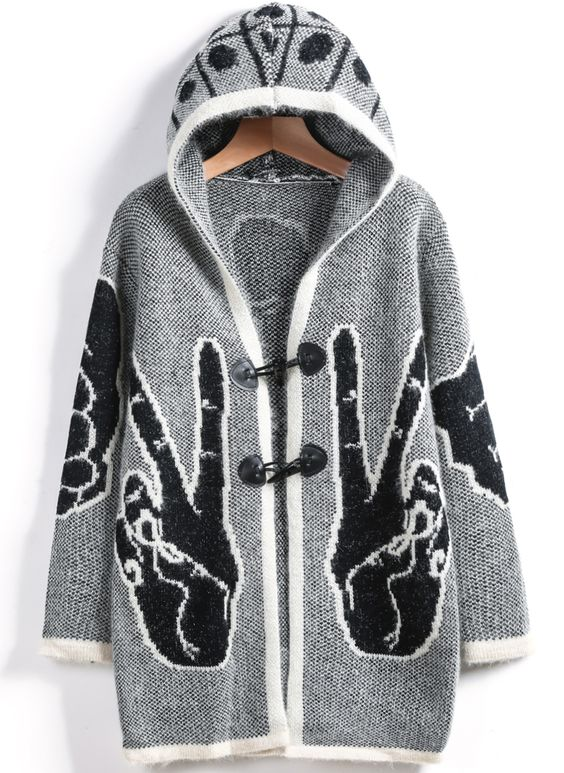 Shop Grey Hooded Long Sleeve Finger Knit Cardigan online. SheIn offers Grey Hooded Long Sleeve Finger Knit Cardigan & more to fit your fashionable needs.