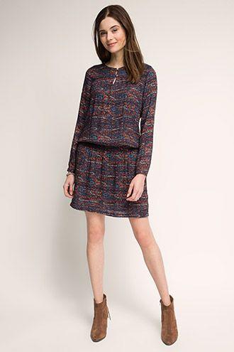 EDC / Fließendes Kleid mit Paisley-Dessin