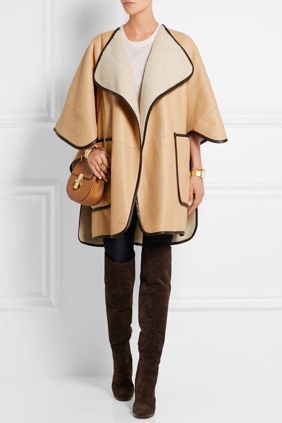 CHLOÉ Shearling cape $6,995.00 http://www.net-a-porter.com ...