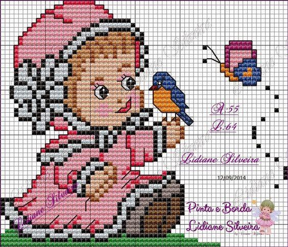 Pinta e Borda (Lidiane Silveira): Bebê delicada..
