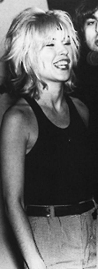 Debbie at the Mudd Club 1979