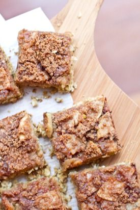 Buttery Apple Streusel Oat Squares