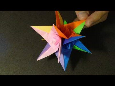 origami Spiral star instructions (Grzegorz Bubniak) - Gonna make this for my little girl's room!