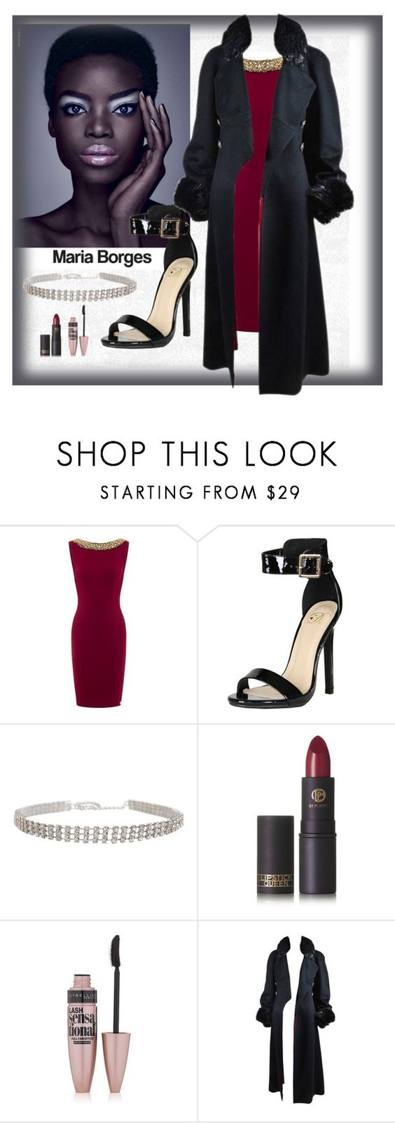 """""""glam fashion"""" by lana-pavlovic ❤ liked on Polyvore featuring Delicious, Humble Chic, Lipstick Queen, Maybelline and Chanel"""