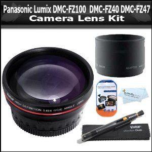 Click Here http://gadget-core.com/bestseller.php?p=B004BH7RJA For Best Price and Cheap Wide Angle Lens Kit For Panasonic Lumix DMC-FZ100 DMC-FZ40 DMC-FZ47 Digital Camera Includes .45X Professional Wide Angle HD Lens with Macro + Lens Adapter + Lens Pen Cleaning Kit + LCD Screen Protectors + ButterflyPhoto MicroFiber Cleaning Cloth (Electronics) Best Seller and Best Buy click image to review :D