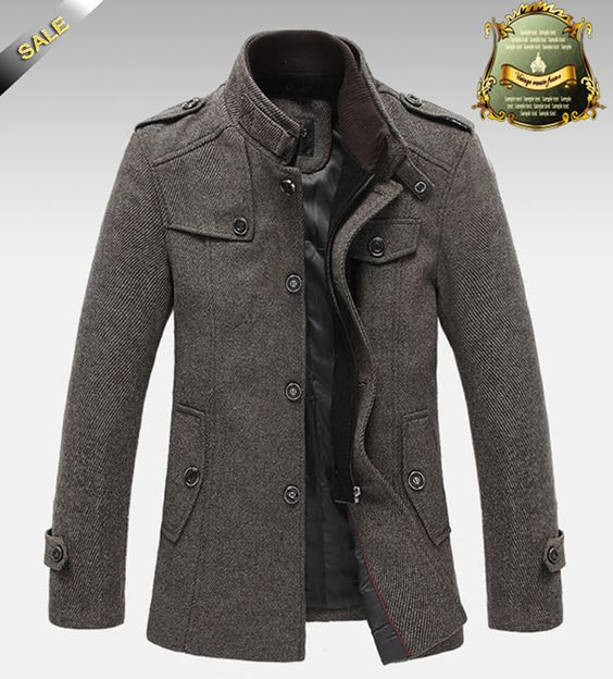 Knitted Stand Collar Wool Blend Tweed Coats Long Jackets | Winter