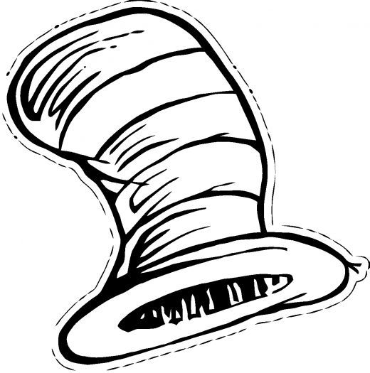 Dr Seuss Cat In Hat Coloring Page