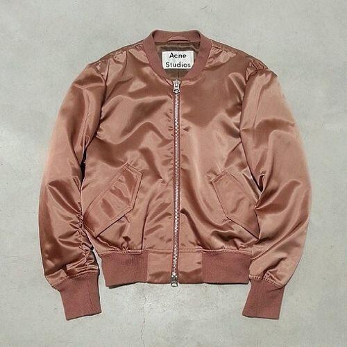 Acne Studios dusty pink bomber jacket | outfits | Pinterest