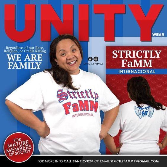 Red/White/Blue Strictly FaMM International shirt design edition