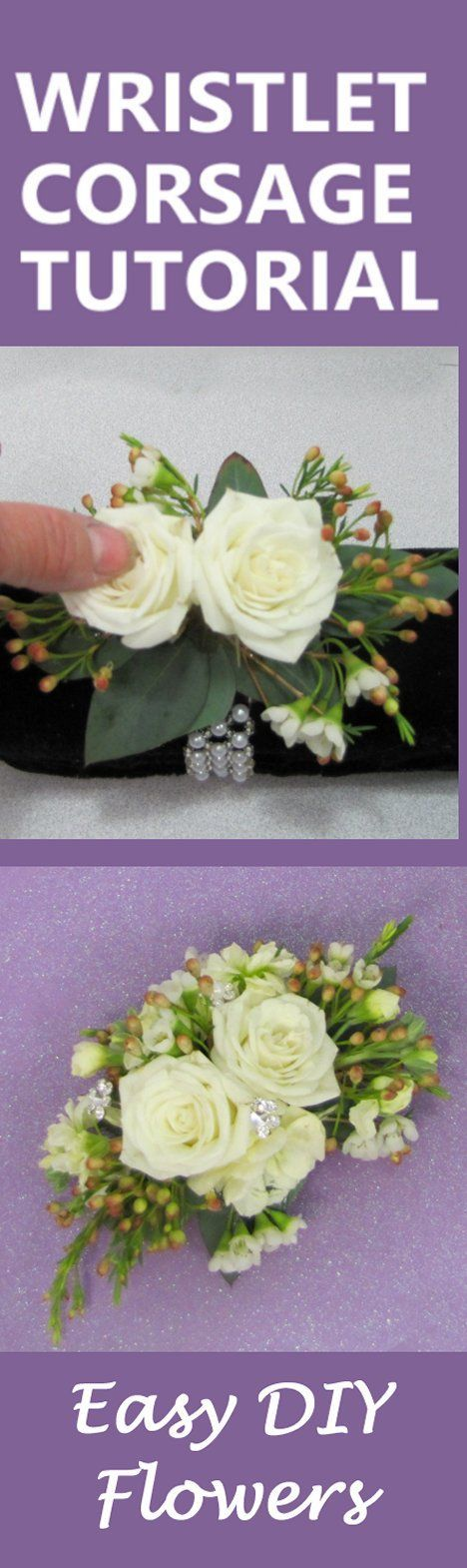 How To Make Wedding Bouquets And Corsages : Wrist corsage florist supplies and diy wedding flowers on