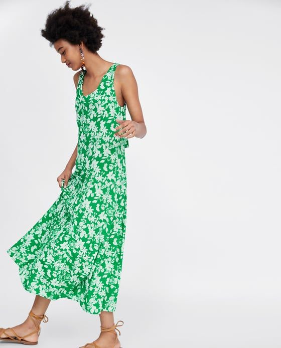 Image 4 Of Long Floral Print Dress From Zara Floral Print Dress Long Dresses Summer Dresses