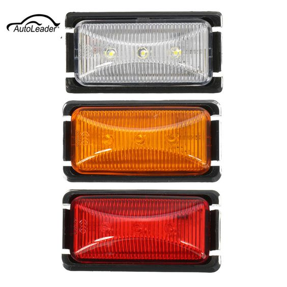 1 Pcs 12v 3led Car Side Caravan Marker Trailer Light Rear Warning Light Signal Lamp Warning Lights Car Lights Car