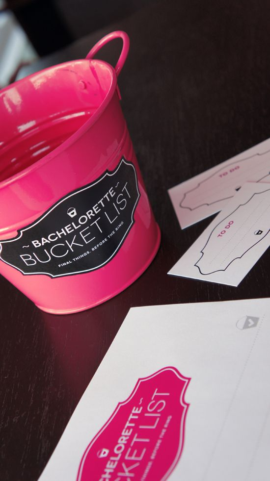 Bachelorette Bucket List - At the beginning of the night your guest fill out a card saying something you should do before you tie the knot!