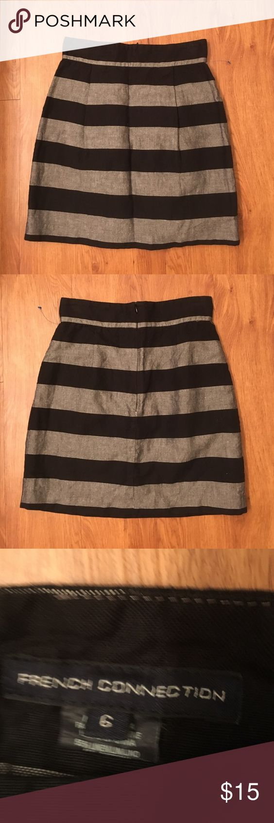 French Connection Skirt Striped French connection skirt with zipper in back no flaws ! French Connection Skirts A-Line or Full
